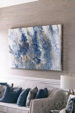 Abstract Wall Painting - Living Space Decorating Services Vaughan by Royal Interior Design Ltd
