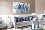 Abstract Painting on Wall - Living Space Design GTA by Royal Interior Design Ltd