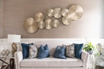 Couch with Throw Pillows - Aurora Living Space Renovations by Royal Interior Design Ltd