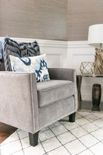 Grey Accent Chair - Living Space Decorating Services Thornhill ON by Royal Interior Design Ltd