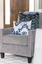 Grey Accent Chair - Living Space Renovations Aurora by Royal Interior Design Ltd