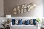 Grey Couch with Throw Pillows - Markham Living Space Renovations by Royal Interior Design Ltd