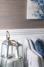 Modern Lamp Shades on Side Table - Living Space Decorating Whitby by Royal Interior Design Ltd