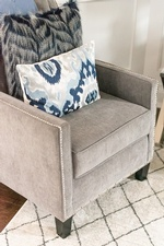 Throw Pillows on Accent Chair - Living Space Renovations Richmond Hill by Royal Interior Design Ltd