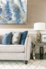 White Couch with Throw Pillows - Living Space Renovations Stouffville by Royal Interior Design Ltd