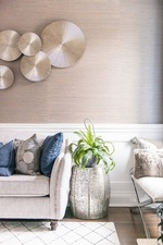 Side Table with a Houseplant - Living Space Design GTA by Royal Interior Design Ltd