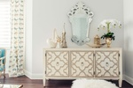 Console Table with Accents - Living Space Design Markham by Royal Interior Design Ltd