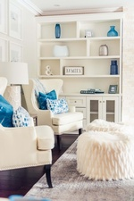 Accents in Entertainment Center - Aurora Living Space Renovations by Royal Interior Design Ltd