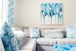 Abstract art on Wall - Living Space Decorating Services Vaughan by Royal Interior Design Ltd
