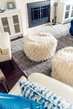 Faux Fur Stools - Living Space Decorating Services Thornhill by Royal Interior Design Ltd