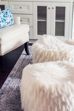 Faux Fur Stools - Living Space Renovations Whitby by Royal Interior Design Ltd