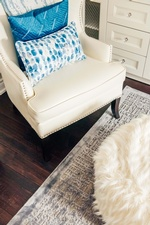 Modern Accent Chair - Living Space Design Markham by Royal Interior Design Ltd