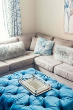 Tufted Ottoman - Living Space Decorating Whitby by Royal Interior Design Ltd