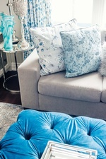 Throw Pillows on Couch - Living Space Design in Markham by Royal Interior Design Ltd
