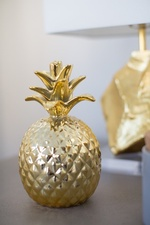Decorative Brass Pineapple - Living Space Design in Markham by Royal Interior Design Ltd