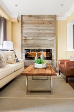 Fireplace Hearth - Living Space Decor Markham by Royal Interior Design Ltd