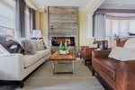 Leather Sofa with Throw Pillows - Living Space Decorating Services Newmarket by Royal Interior Design Ltd