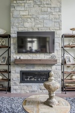 Modern Fireplace Hearth - Living Space Decorating Services Whitby by Royal Interior Design Ltd