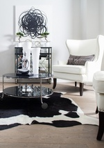Black and White Living Space Design in Markham by Royal Interior Design Ltd