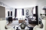 Black and White Living Space Decorating Services Thornhill by Royal Interior Design Ltd