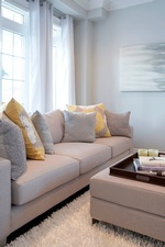 Throw Pillows on Couch - Living Space Renovations GTA by Royal Interior Design Ltd