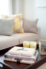 Books on Coffee Table - Living Space Renovations Stouffville by Royal Interior Design Ltd