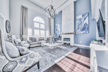 Great Heights - Living Space Decorating Whitby by Royal Interior Design Ltd.