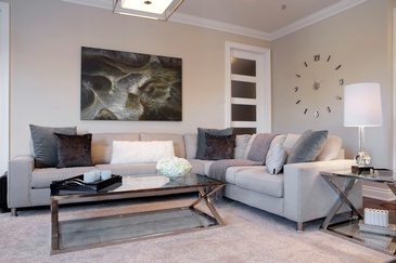Urban Chic Living Space Decorating Services Newmarket by Royal Interior Design Ltd.