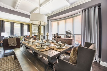 Rustic Dining Room Renovations Richmond Hill ON by Royal Interior Design Ltd.