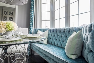 Fresh Turquoise Kitchen - Dining Room Renovations Stouffville ON by Royal Interior Design Ltd.