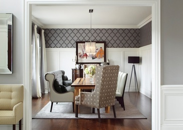 Luxury Dining Room Renovations Whitby by Royal Interior Design Ltd.