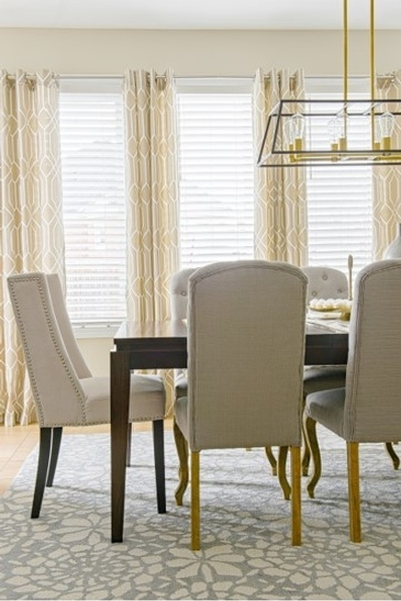 Grey and Gold Look Dining Room Renovations Thornhill by Royal Interior Design Ltd.