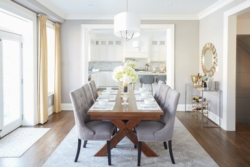 Neutral With Touch of Ochre - Dining Room Renovations GTA by Royal Interior Design Ltd.