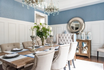 Rustic Dining Room Renovations Aurora by Royal Interior Design Ltd.