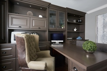 Transitional Study - Office Renovation Services Newmarket ON by Royal Interior Design Ltd.