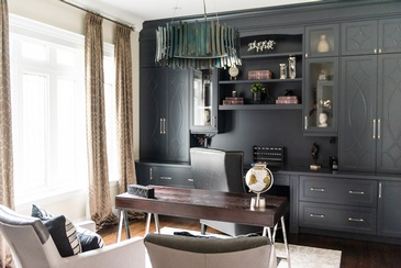 Masculine Chic - Office Decorating Services Newmarket ON by Royal Interior Design Ltd.