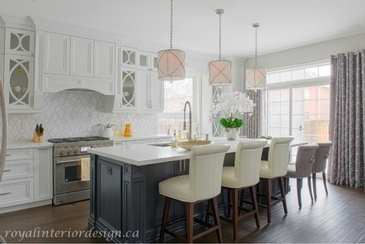 Fresh Lemon - Kitchen Interior Design by Royal Interior Design Ltd.