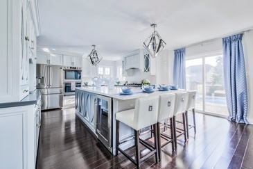 Beautiful Blues - Kitchen Interior Design by Royal Interior Design Ltd.