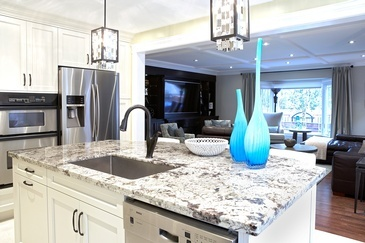 Transitional With a Hint of Blue - Kitchen Interior Design by Royal Interior Design Ltd.