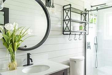 Cottage Bathroom Renovations Stouffville by Royal Interior Design Ltd.