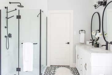 Farmhouse master bathroom