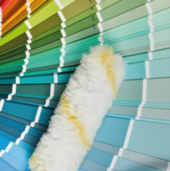 Paint Color Palette with a Painting Roller Brush - Decorating Services Newmarket ON by Royal Interior Design Ltd.