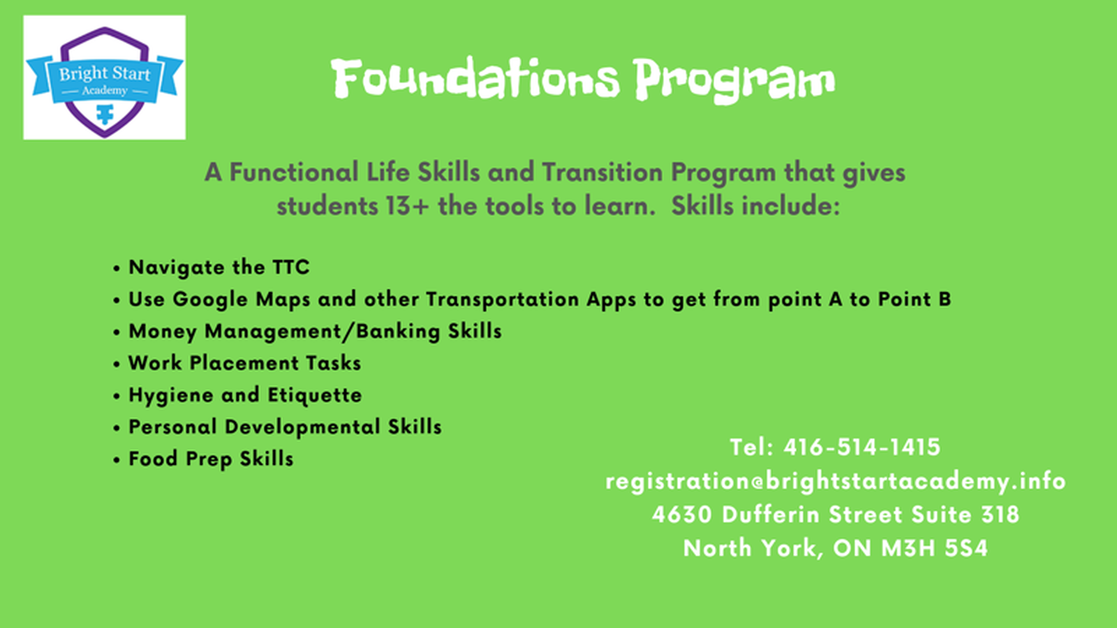 The Foundations Program