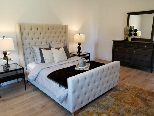 Beautiful Grey Colour Bed - Urban 57 Home Decor & Interior Design, Furniture Store in Sacramento