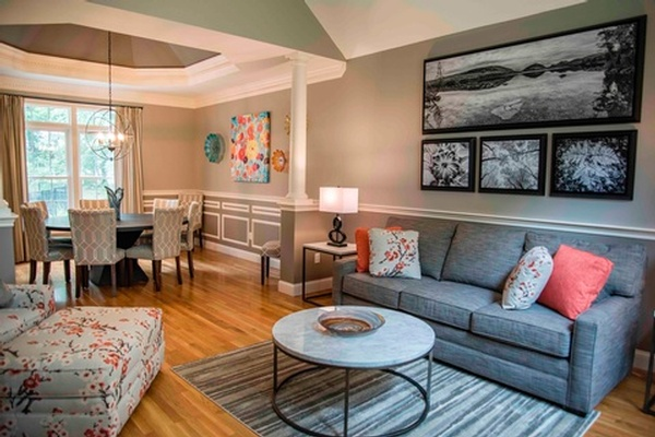 Family Room Design in Bedford NH