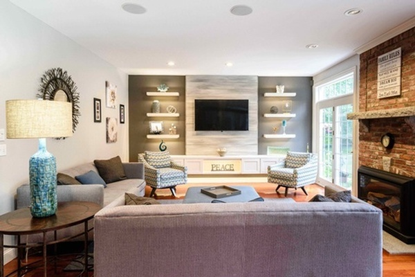 Living Room Design Nashua by Tout Le Monde Interiors