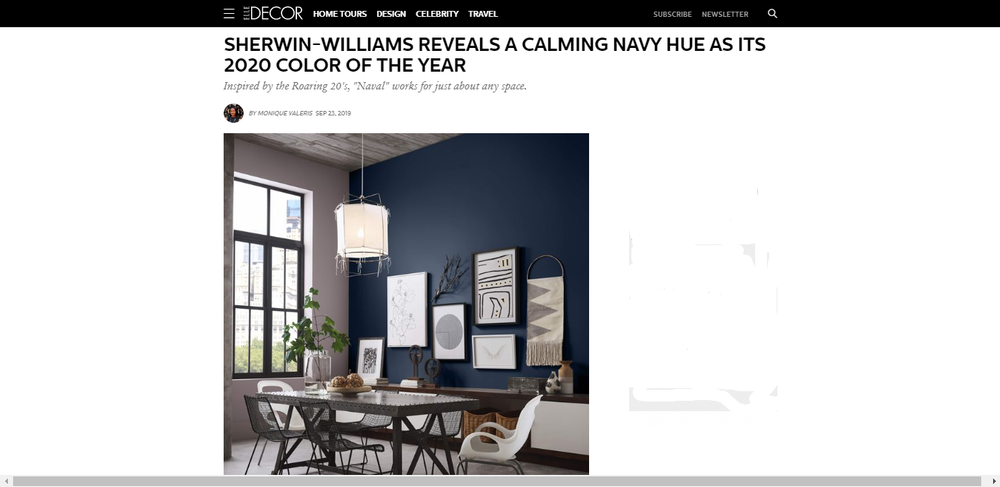 Sherwin-Williams Reveals 2020 Color of the Year - Naval SW 6244 Paint Color.png