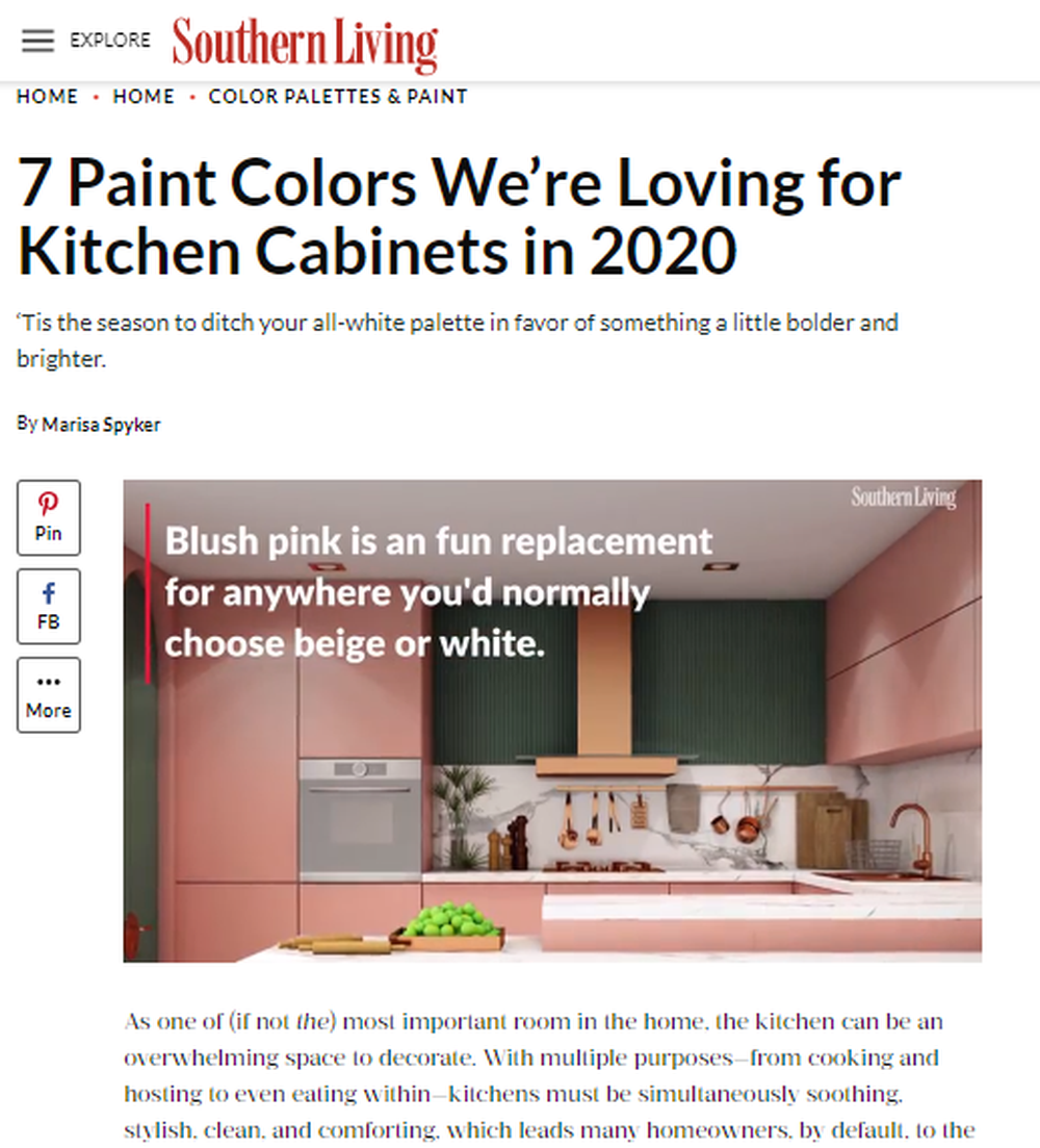 7 Paint Colors We're Loving for Kitchen Cabinets in 2020 - Southern Living.png