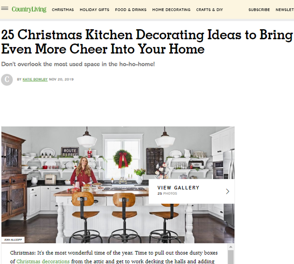 25 Christmas Kitchen Decorating Ideas - How to Decorate Your Kitchen for Christmas.png