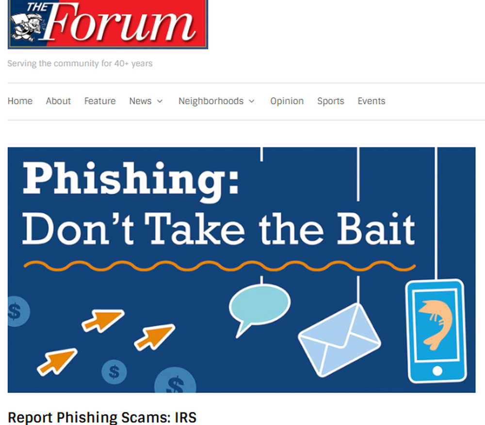 Report Phishing Scams  IRS   The Forum Newsgroup.png